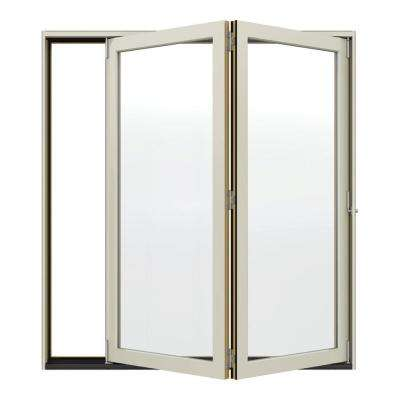 Classic Clear Glass 72 in. x 80 in. Fiberglass Smooth Prehung Left-Hand Inswing 15 Lite Patio Door