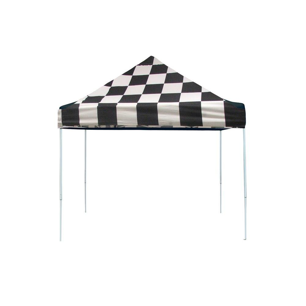 Pro Series 10 ft. x 10 ft. Checkered Flag Straight Leg