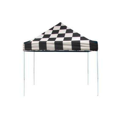 Pro Series 10 ft. x 10 ft. Checkered Flag Straight Leg Pop-Up Canopy