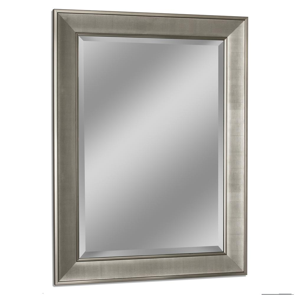 Pave Wall Mirror In Brush Nickel
