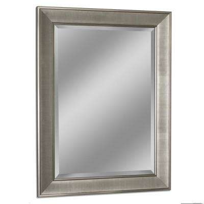 29 in. W x 35 in. H Pave Wall Mirror in Brush Nickel