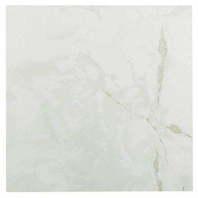 Nexus Classic White 12 in. x 12 in. Peel and Stick Stone Vinyl Tile (20 sq. ft. / case)
