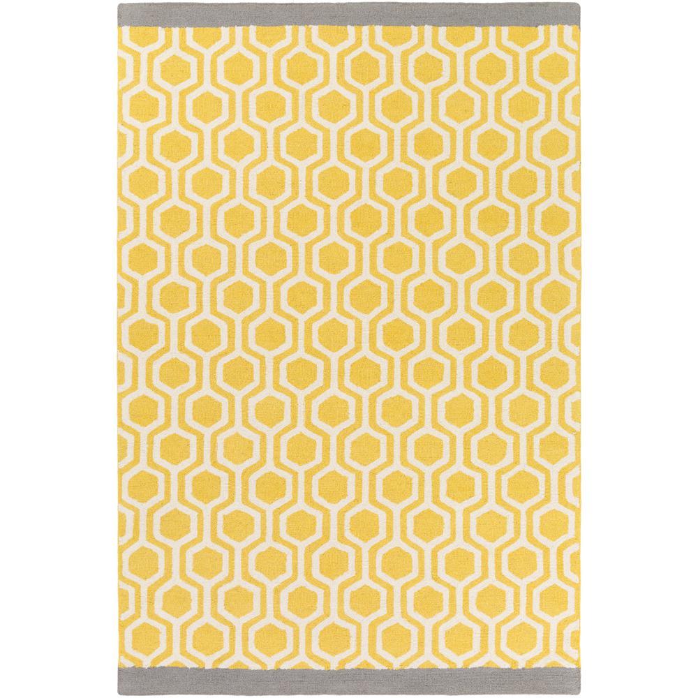 Hilda Eva Light Yellow 8 ft. x 11 ft. Indoor Area