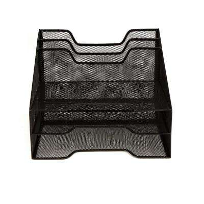 5-Compartment Mesh Desk Storage Organizer, Black
