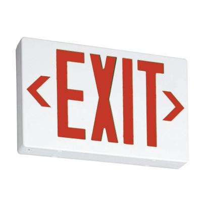 Contractor Select EXR White Thermoplastic LED Emergency Exit Sign