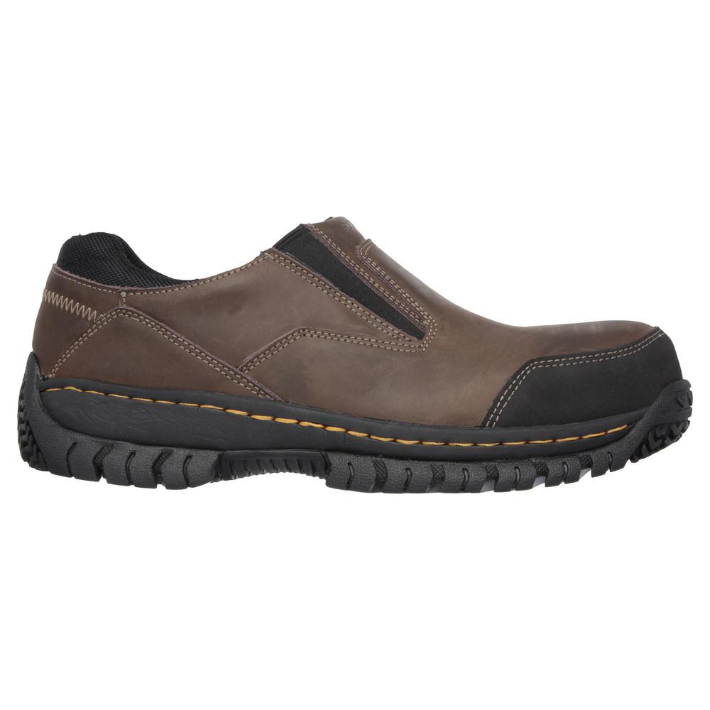 fe7de806352fe Skechers Hartan ST Men Size 9 Brown Leather Work Shoe