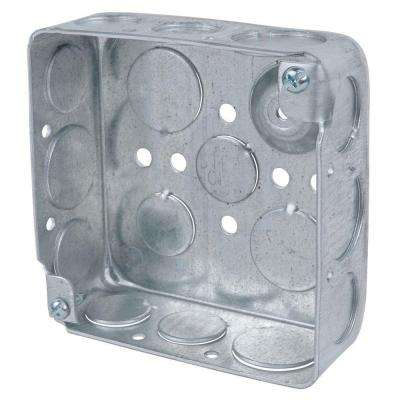 1-Gang 4 in. New Work Metal Electrical Wall Box with Ground Bump