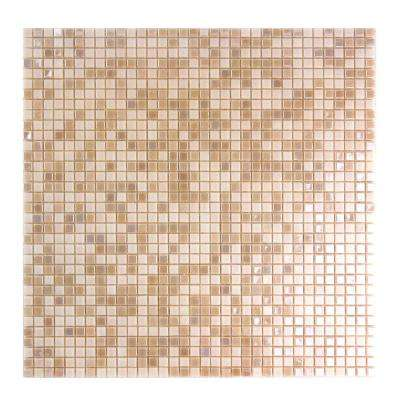 Constellation Pink 11.7 in. x 11.7 in. x 3.20 mm Glass Mosaic Tile