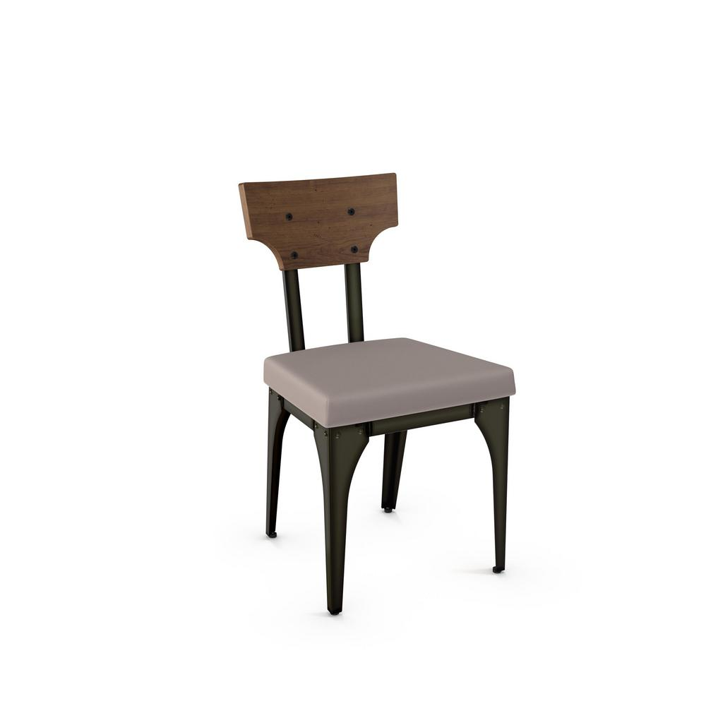 Rally Grey Cushion Brown Wood Back Dining Chair Set Of 2 31661