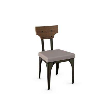 Rally Grey Cushion Brown Wood Back Dining Chair (Set of 2)