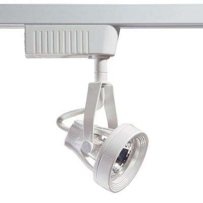 6601 Series Low-Voltage MR16 White Track Lighting Fixture