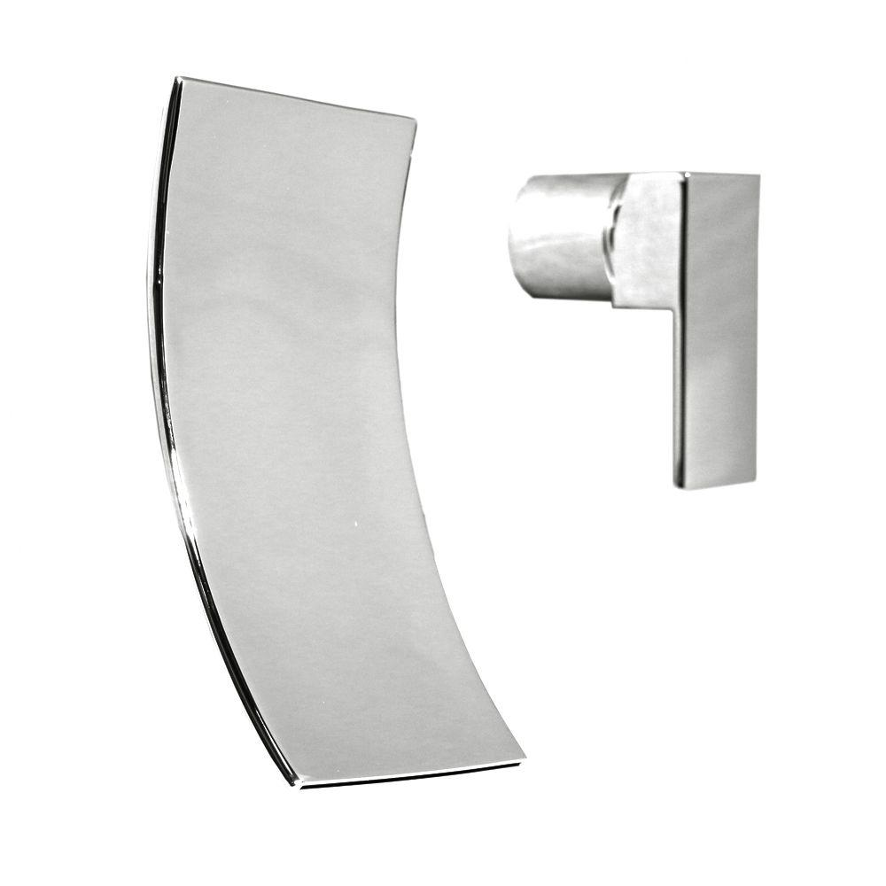 Kokols Accent Single-Handle Wall Mount Bathroom Faucet in Polished ...