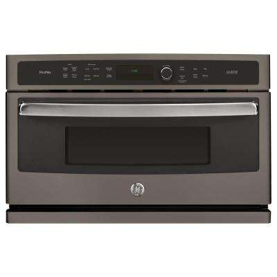 30 in. Single Electric Wall Oven with Advantium Technology in Slate, Fingerprint Resistant
