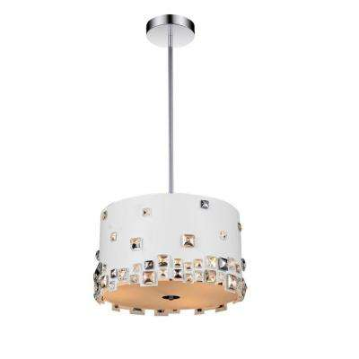 Shadow 5-Light White Chandelier