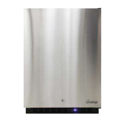 4.7 cu. ft. Upright Outdoor Freezer in Stainless Steel