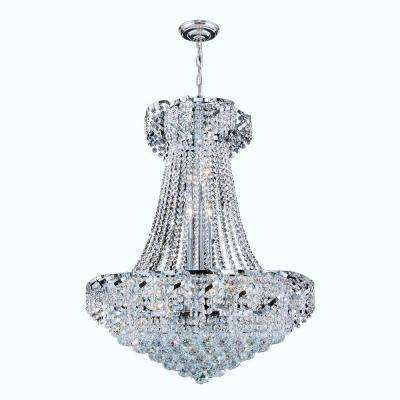 Empire Collection 15-Light Crystal and Chrome Ceiling Light