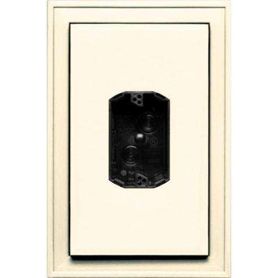 8.125 in. x 12 in. #021 Sandstone Beige Jumbo Electrical Mounting Block Centered