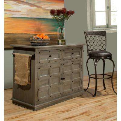 Camargo Gray Kitchen Island With Granite Top