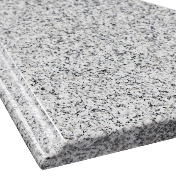 Home Decorators Collection 37 In W Granite Vanity Top In Rushmore Grey And White Sink Hg37228rg The Home Depot
