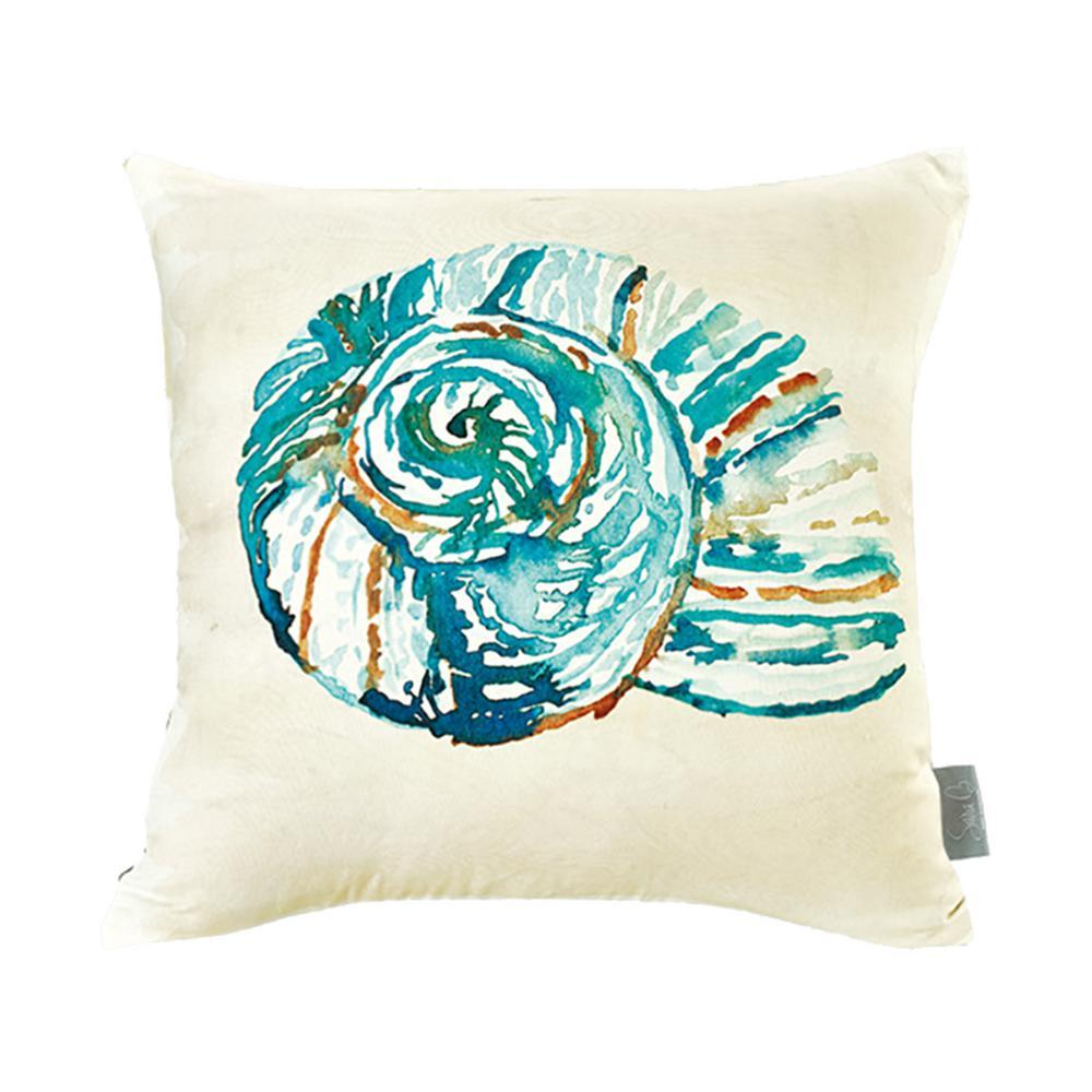Conch Shell Multicolor Decorative Pillow