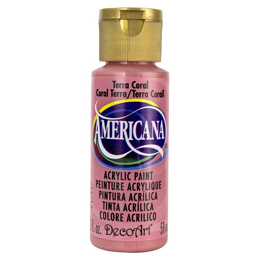 Americana 2 oz. Terra Coral Acrylic Paint