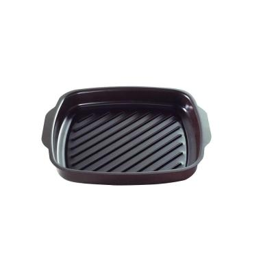 365 Grilling 10.25 in. Steel Nonstick Grill Pan in Black