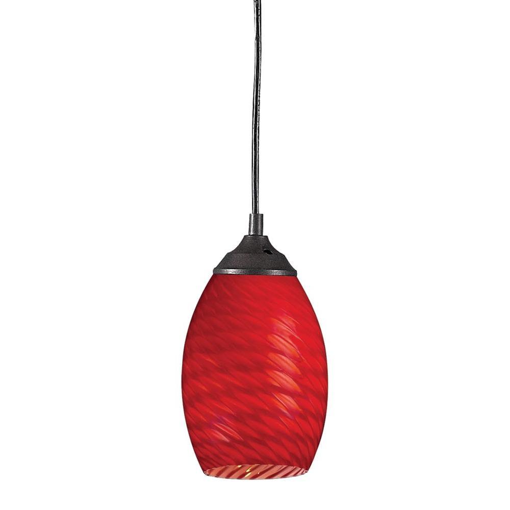 Mini Red Love Chandelier: Filament Design Lawrence 1-Light Sand Black Incandescent