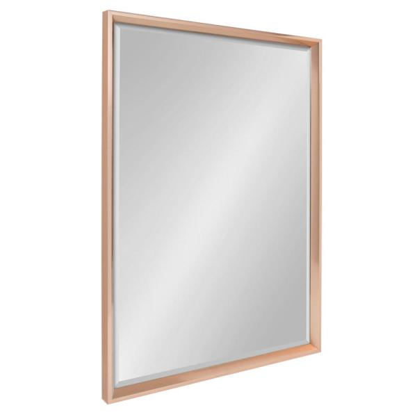 Kate and Laurel Calter Rectangle Rose Gold Wall Mirror