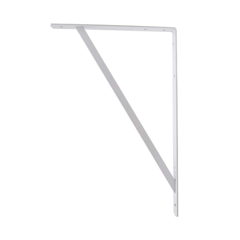 Crown Bolt 20 in. x 13 in. White Heavy Duty Shelf Bracket