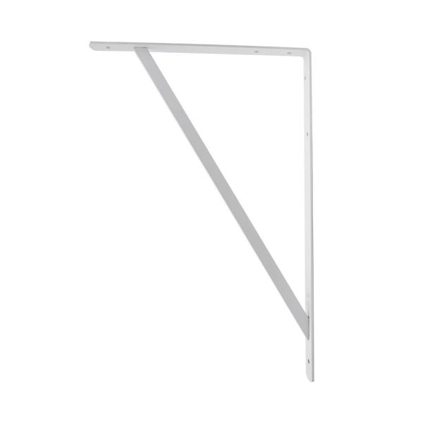 20 in. x 13 in. White Heavy Duty Shelf Bracket