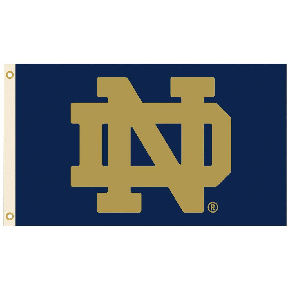 Bsi Products Ncaa 3 Ft X 5 Ft Notre Dame Flag 95536