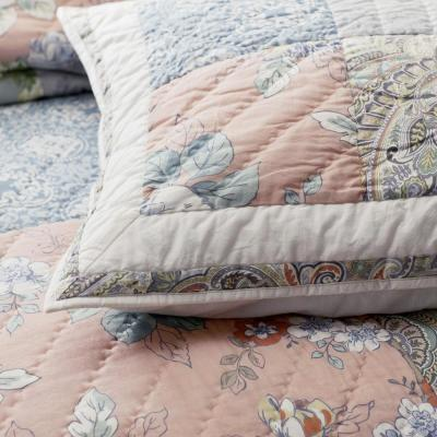 Ava Patch Handcrafted Cotton Percale Sham