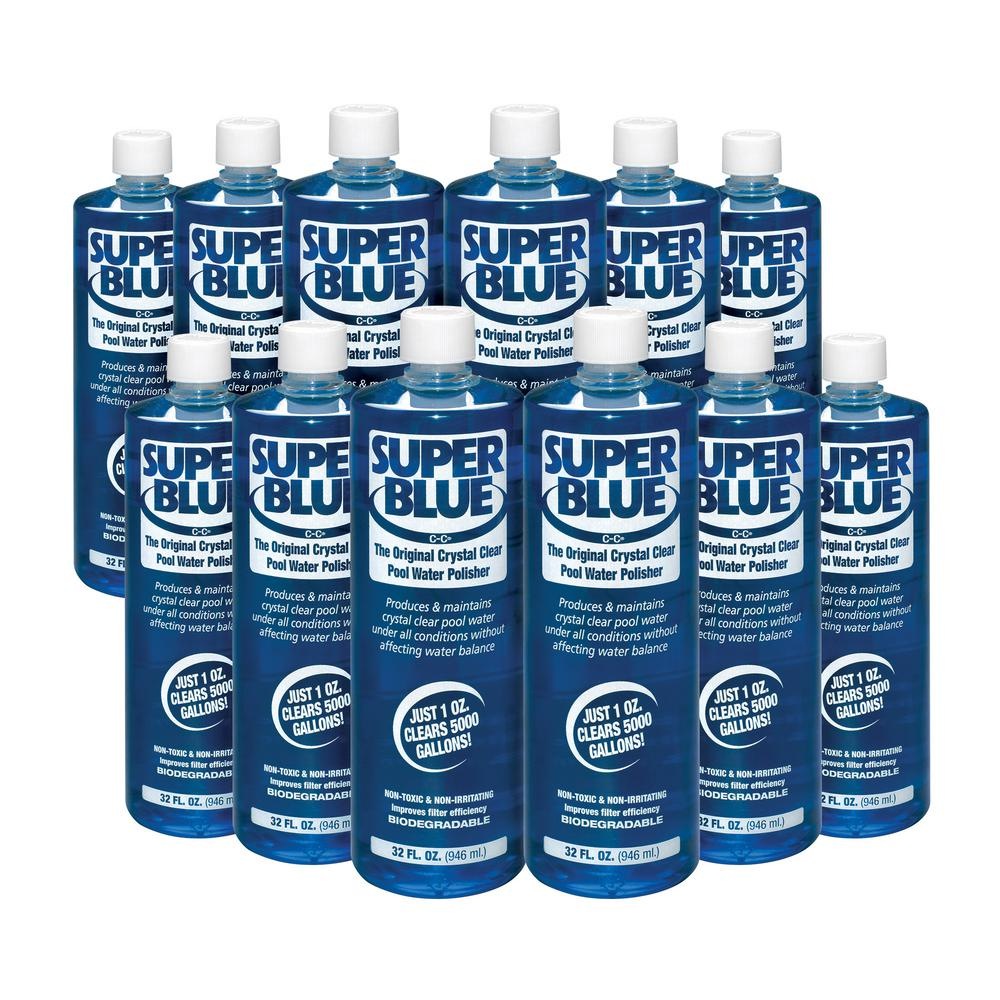 1 Qt. Super Blue Water Clarifier (12-Pack)