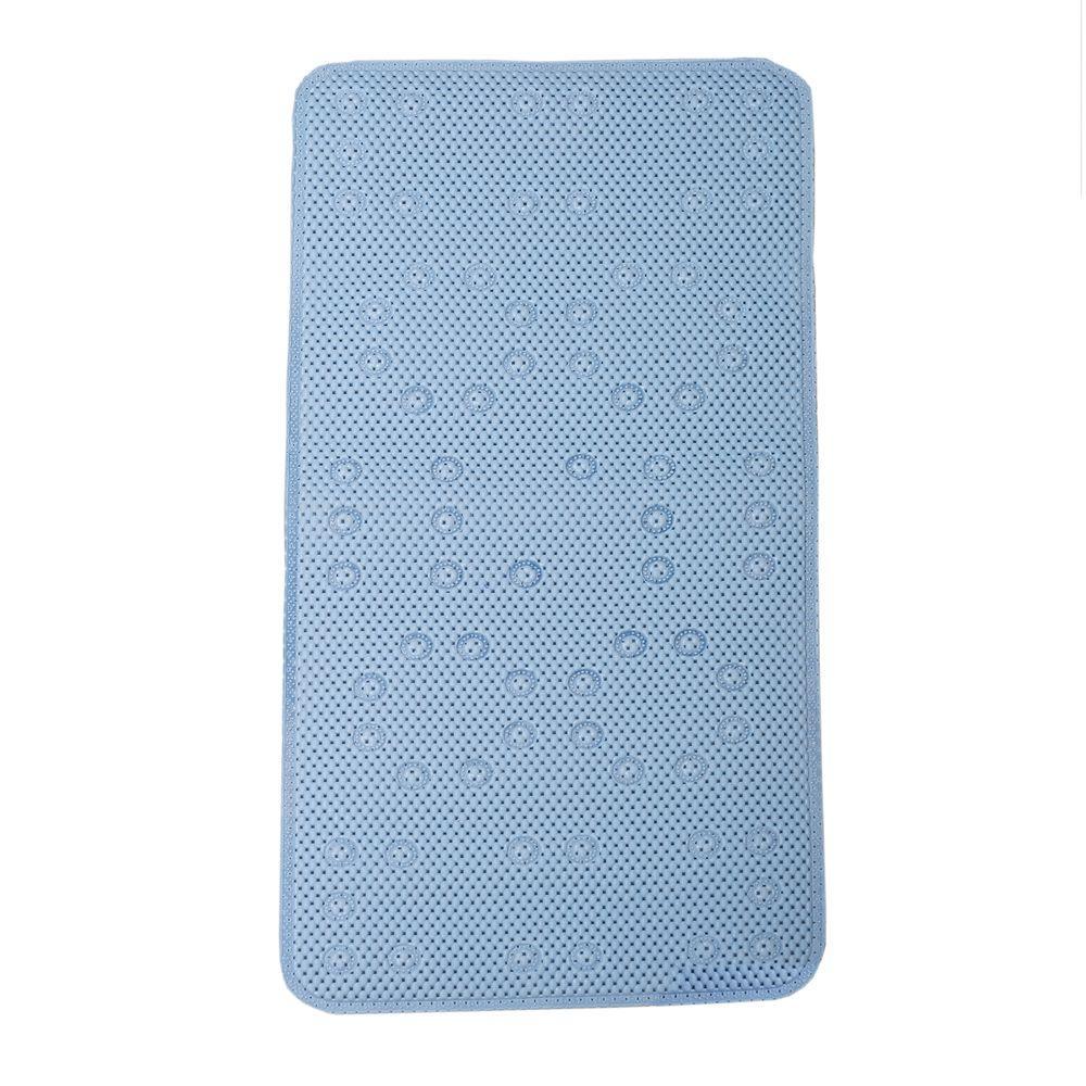 Zenna Home 17 in. x 36 in. Foam Bath Mat in Blue
