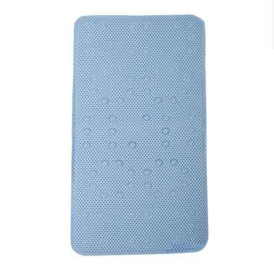 17 in. x 36 in. Foam Bath Mat in Blue