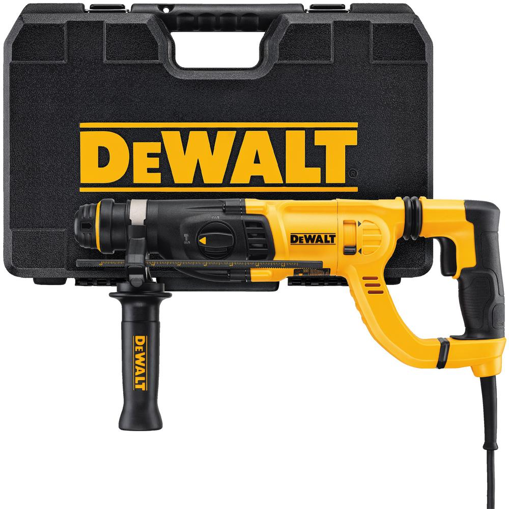 dewalt 8 amp 1 in corded sds plus d handle concrete. Black Bedroom Furniture Sets. Home Design Ideas