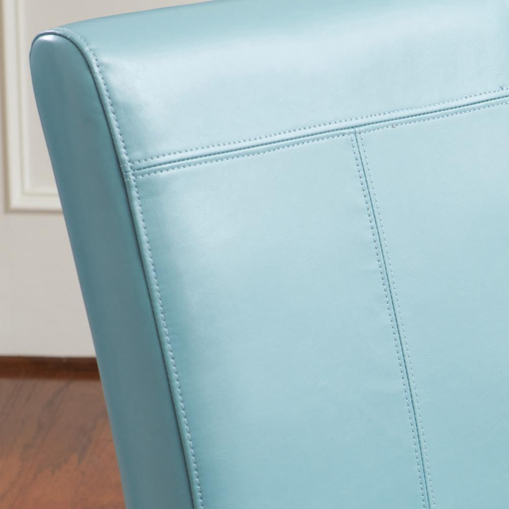 Le House Pertica Teal Blue Leather T