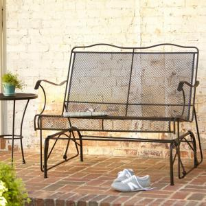 Hampton Bay Jackson Patio Loveseat Glider 7894000 0105157   The Home Depot