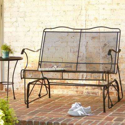 Jackson Patio Loveseat Glider & Wrought Iron - Patio Chairs - Patio Furniture - The Home Depot
