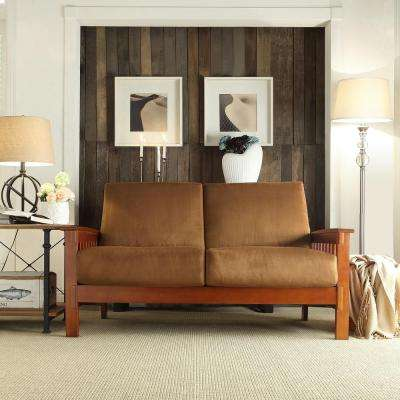 Preston Rust Microfiber Loveseat