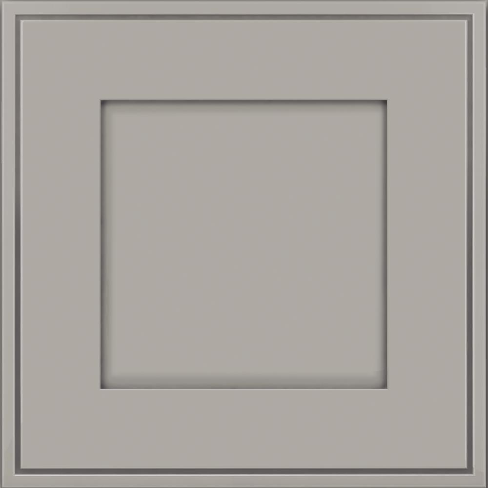 15 x 15 in. Cabinet Door Sample in Welch Maple in Pebble Grey