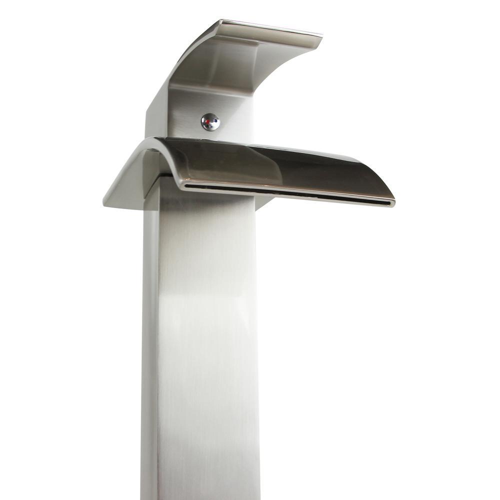 Wye Single Hole Single-Handle Vessel Bathroom Faucet in Brushed Nickel
