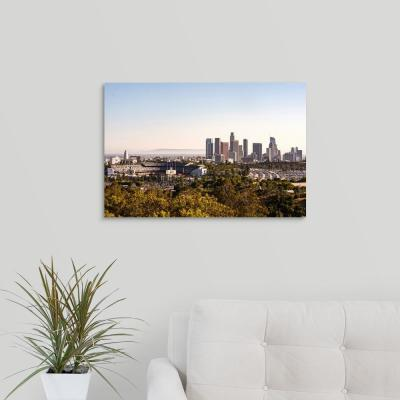 """Downtown Los Angeles, California, Dodger Stadium"" by Circle Capture Canvas Wall Art"