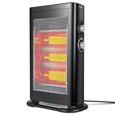 1,500-Watt Electric Infrared Convection Space Heater with Adjustable Thermostat and Overheat Protection