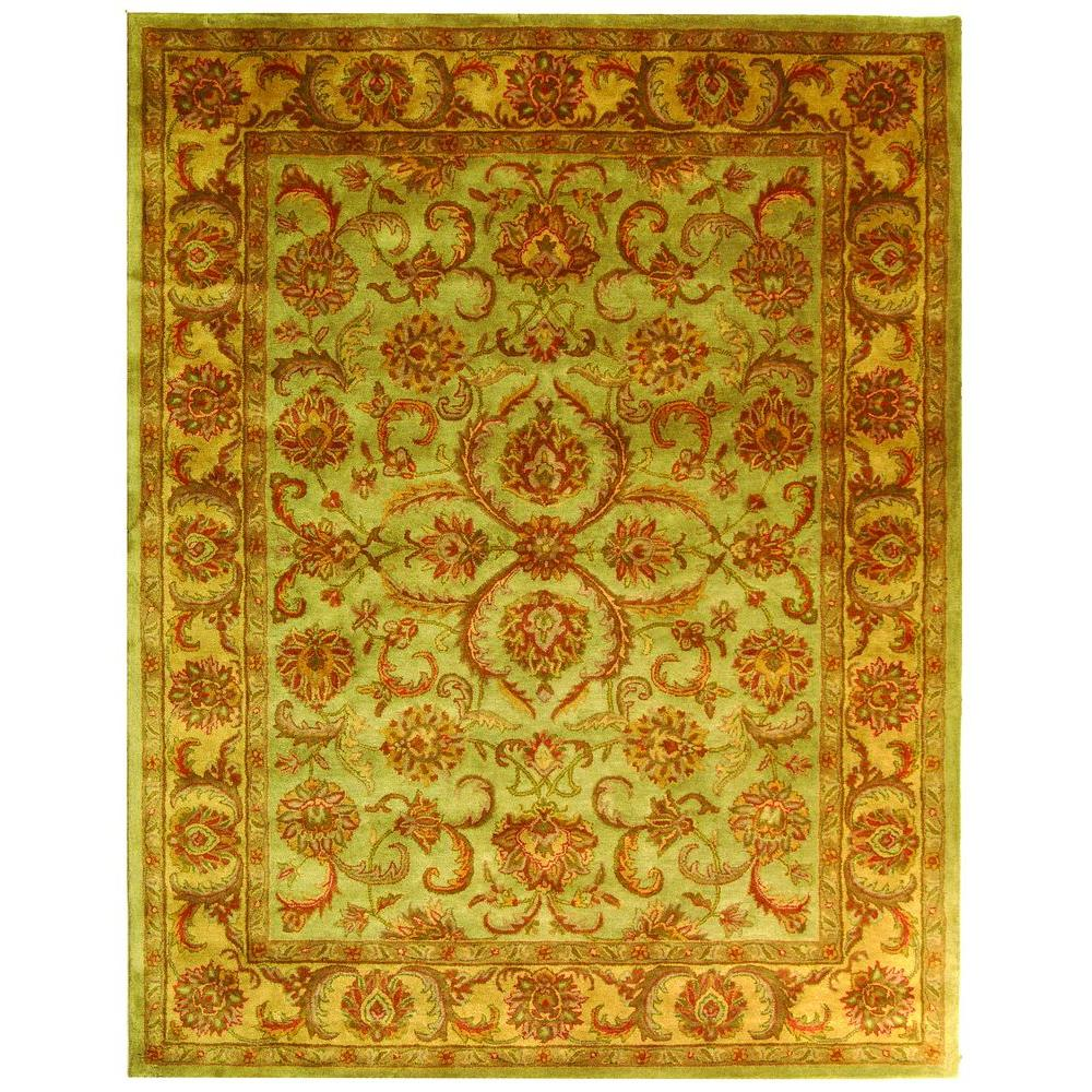 Heritage Green/Gold 8 ft. 3 in. x 11 ft. Area Rug
