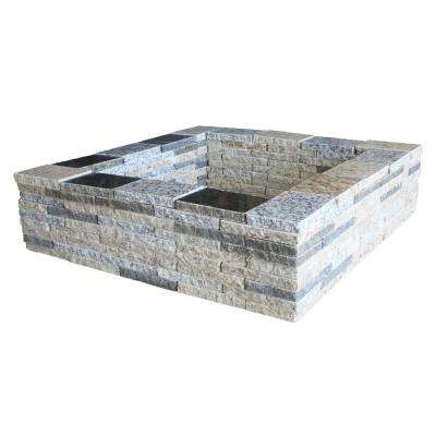 30 in. Granite Square Fire Pit Kit