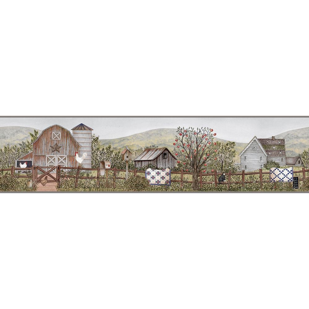 Clarksville Green Farm Wallpaper Border