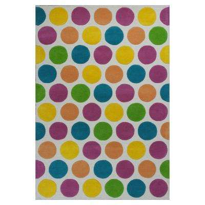 Circle Play Multi 3 ft. 3 in. x 5 ft. 3 in. Area Rug