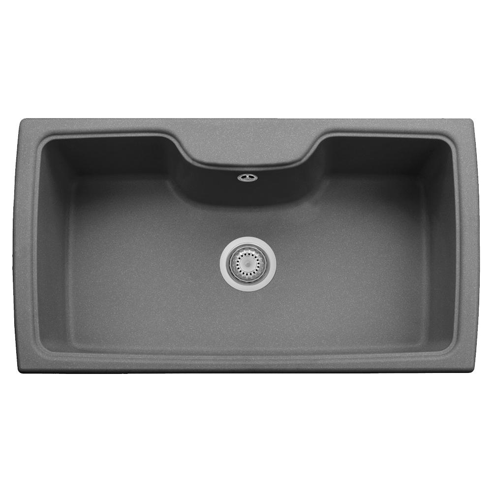 Harmony Drop-in Granite Composite 22 in. 1-Hole Single Bowl Kitchen Sink