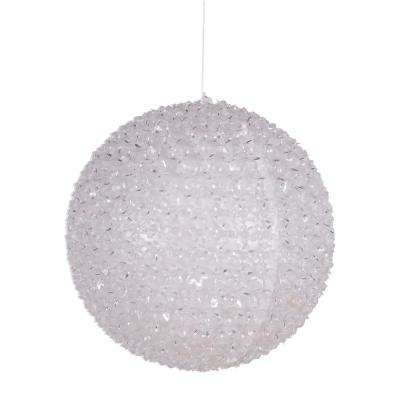 13 in. Hanging Cherry Ball with Flashing Multi-Colored LED Lights